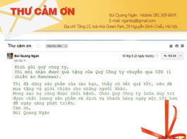 khach hang gui thu cam on hamomax